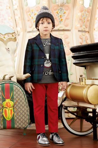 Фото №41 - Золотая карусель: лукбук осенне-зимней детской коллекции Gucci 2016/17