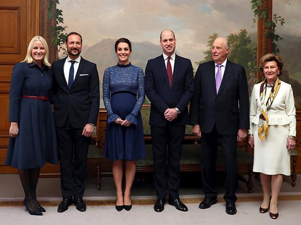 Фото №9 - Кейт Миддлтон и принц Уильям в Норвегии: день первый
