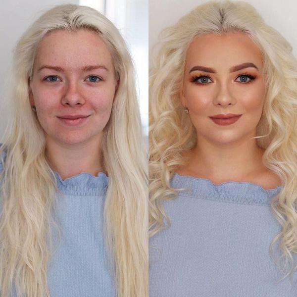 Вечерний макияж, фото до и после, Гоар Аветисян
