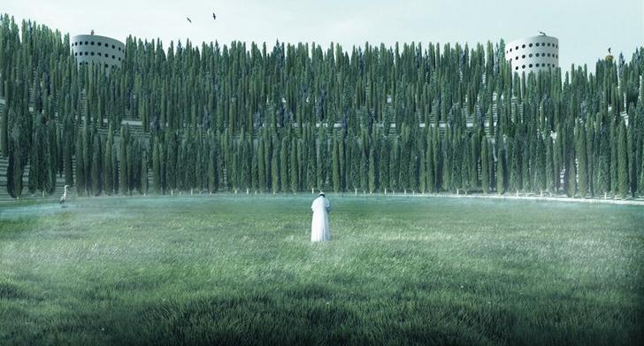 Фото №1 - Зеленый монумент жертвам COVID-19 в Милане