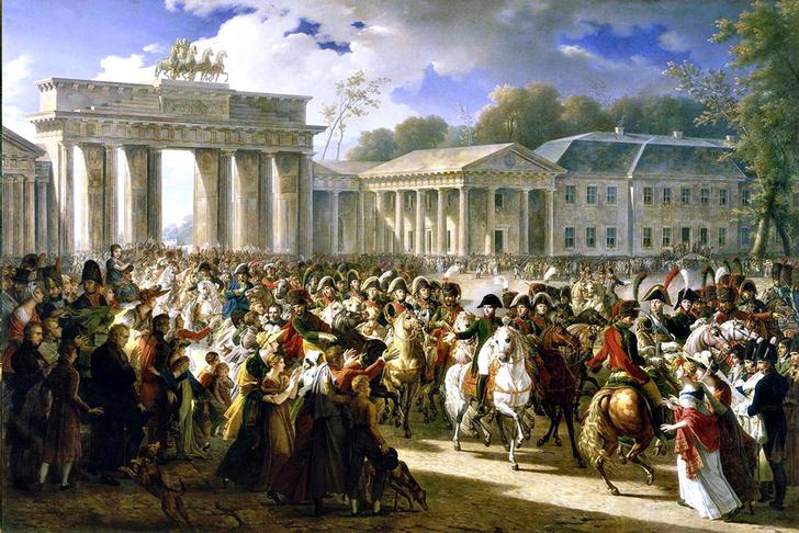 Фото №1 - Бранденбургские ворота: история в трех изображениях