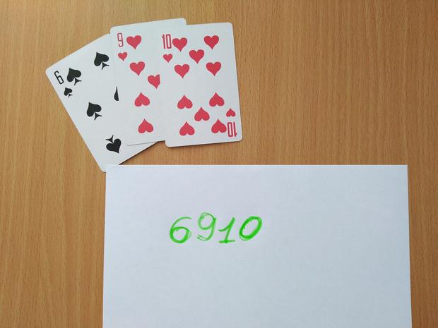 Фото №1 - Элементарный карточный фокус с угадыванием числа