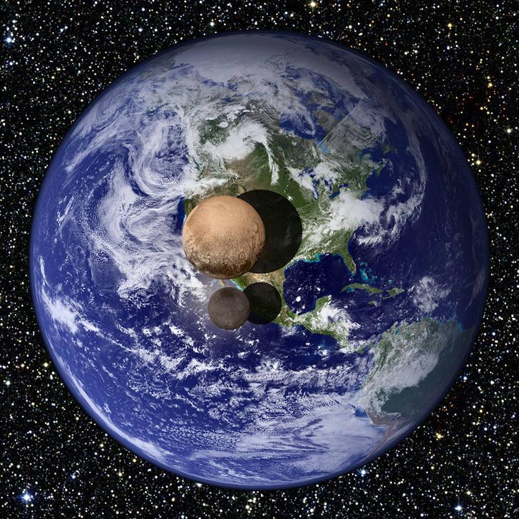 Фото №2 - Как выглядит Плутон по сравнению с земными континентами