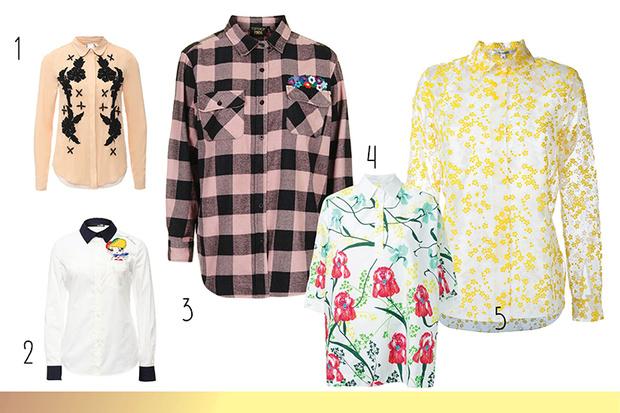 Фото №1 - Топ-10: Рубашки с принтами и нашивками