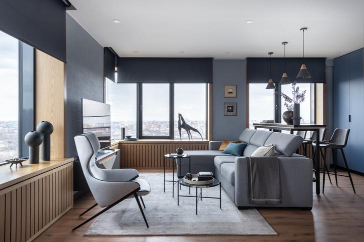 Фото №1 - Современная квартира 82 м² для творческой пары в Москве