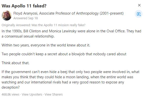 Фото №2 - Антрополог назвал самый убедительный довод в пользу того, что американцы действительно высадились на Луну