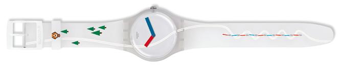 Фото №2 - Swatch посвятил одну из своих моделей часов собачкам швейцарской породы Сенбернар