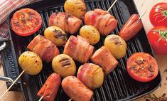 Шашлычки-ассорти из колбасок