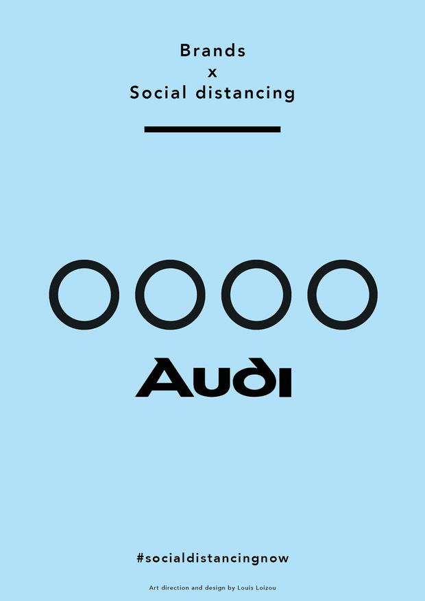 Фото №5 - Известные логотипы держат социальную дистанцию: галерея