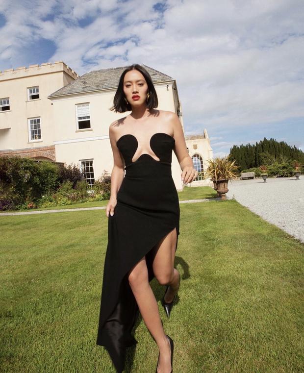 Фото №1 - Тиффани Хсу показывает, какое черное платье станет классикой в 2021