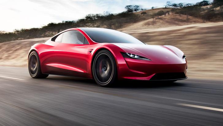 Фото №1 - Новый Tesla Roadster получит режим реактивной тяги