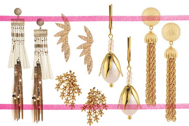 Серьги, H&M; серьги, Zara; серьги, Accessorize; серьги, H&M; серьги, PS by Polina Selezneva; серьги, Ben Amun