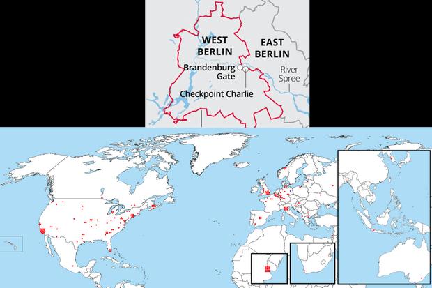 Фото №2 - Карта: места в мире, где хранятся остатки Берлинской стены