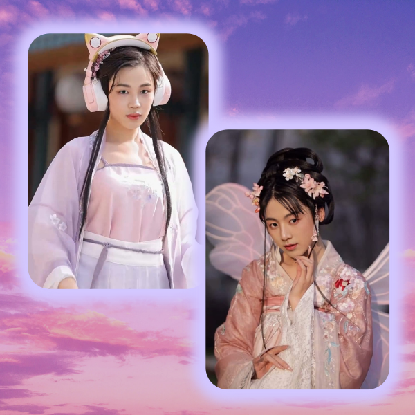 Фото №1 - Вау! BTS превратились в китайских красавиц из TikTok ✨