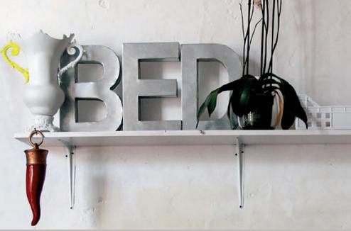 Декоративные буквы SELETTI Metalvetica