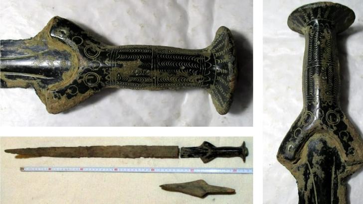 Фото №1 - Чешский грибник нашел в лесу меч возрастом 3300 лет