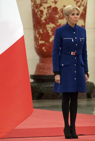 Фото №12 - Лучше, чем Мелания: 5 идеальных нарядов Брижит Макрон в Китае