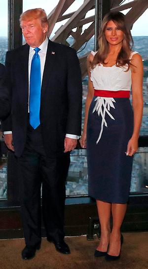 Фото №13 - Первые подруги: Мелания Трамп и Бриджит Макрон в Париже