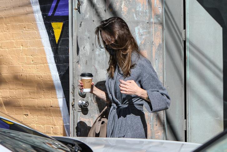 Фото №1 - Всего одно базовое пальто, которое Анджелина Джоли выбирает на осень