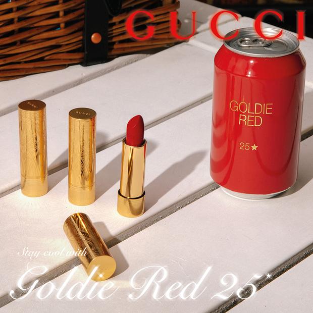 Фото №1 - Счастливчик 25: новые помады Gucci в самом любимом цвете Алессандро Микеле