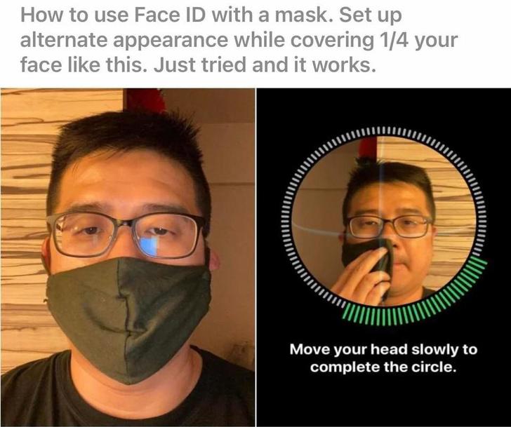 Фото №2 - Как использовать FaceID на айфоне, если носишь маску