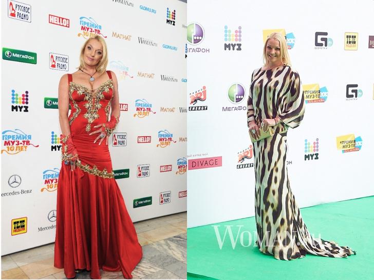 Фото №26 - Незабываемые образы звезд на «Премии МУЗ-ТВ»: модные взлеты и падения