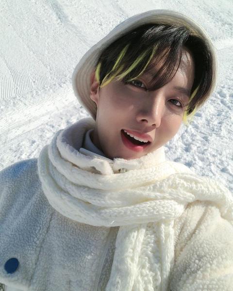 Фото №1 - 5 идей необычного окрашивания волос от Джей-Хоупа из BTS
