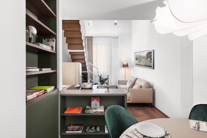 Фото №2 - Современная двухуровневая квартира во Флоренции