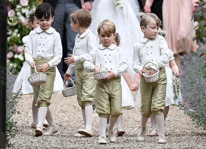 Фото №2 - Принцесса Шарлотта и принц Джордж на свадьбе Пиппы Миддлтон (фото)