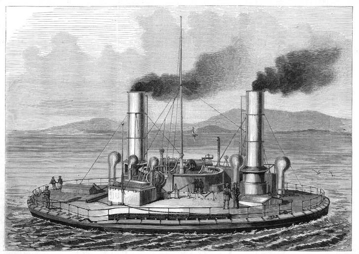 Фото №1 - Как в России в XIX веке круглые боевые корабли строили