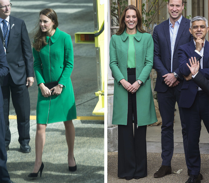 Фото №3 - Кейт Миддлтон надела пальто, которое Уильям назвал «слишком ярким и смелым»