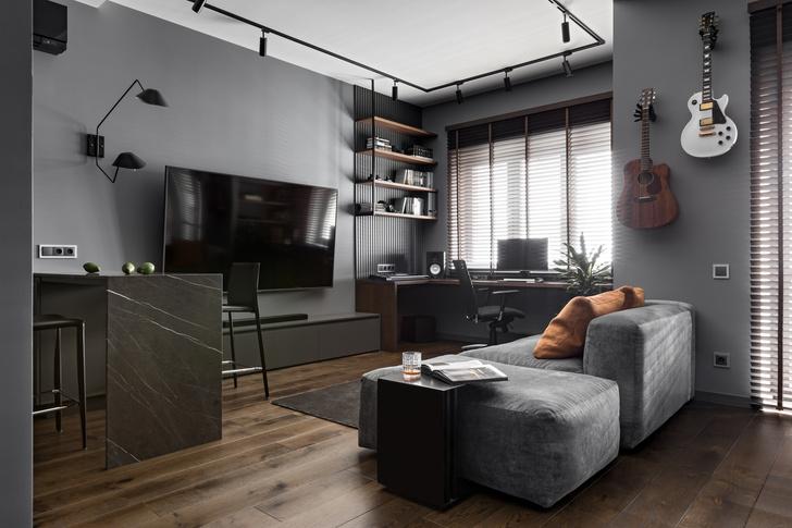 Фото №1 - Квартира 44 м² с мужским характером в Минске