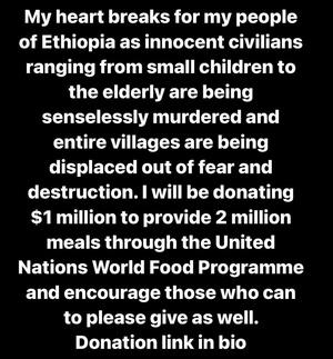 Фото №1 - The Weeknd пожертвовал 1 млн долларов жителям Эфиопии 💔