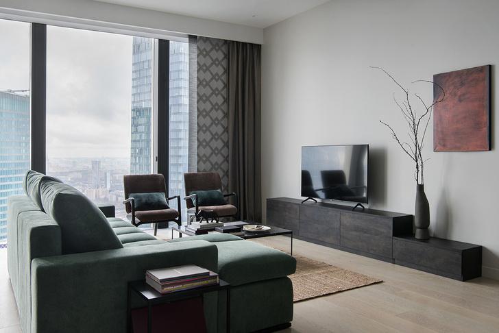 Фото №1 - Мужская квартира 110 м² в Москва-Сити