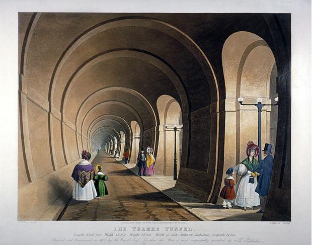 Фото №1 - Тоннель под Темзой: драматическая история строительства первого в мире тоннеля под рекой