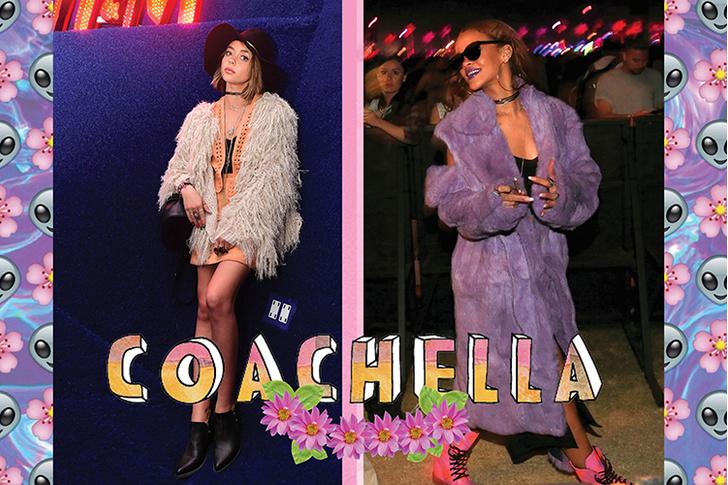 Гости фестиваля Coachella: актриса Сара Хайланд и певица Рианна