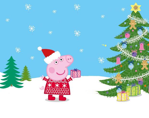Фото №1 - «Свинка Пеппа» дарит подарки к Новому году