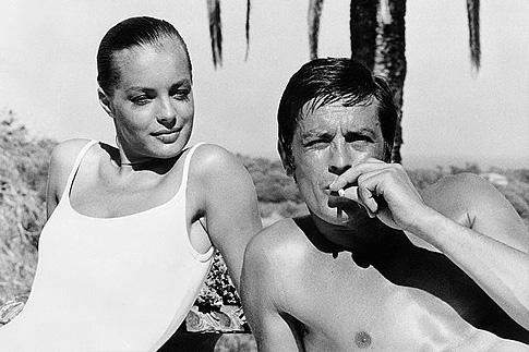 Роми Шнайдер и Ален Делон на съемочной площадке фильма «Бассейн»