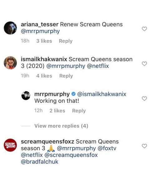 Фото №1 - Подтверждение от Райана Мерфи: у «Королев крика» выйдет третий сезон