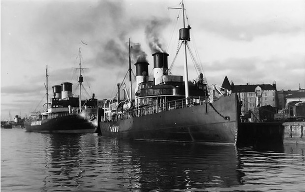 Фото №1 - Уникальная киносъемка ледокола на паровом ходу столетней давности
