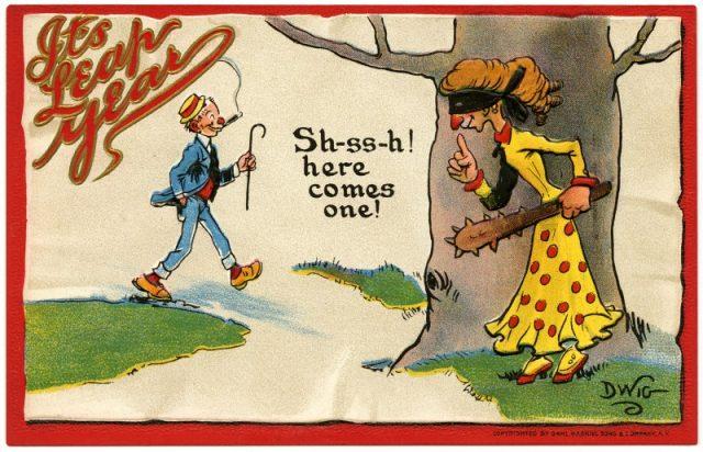 Фото №1 - Полузабытая европейская традиция: если женщина делает мужчине предложение в високосный год, он не имеет права отказать