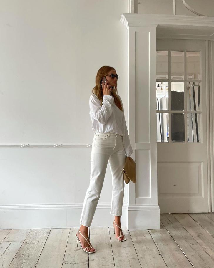 Фото №3 - Как выглядят безупречные белые джинсы для лета? Показывает Роузи Хантингтон-Уайтли