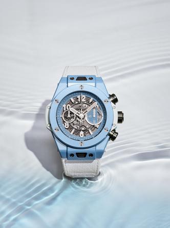 Фото №2 - Синева моря: Hublot представил новинку Big Bang в нежно-голубом оттенке