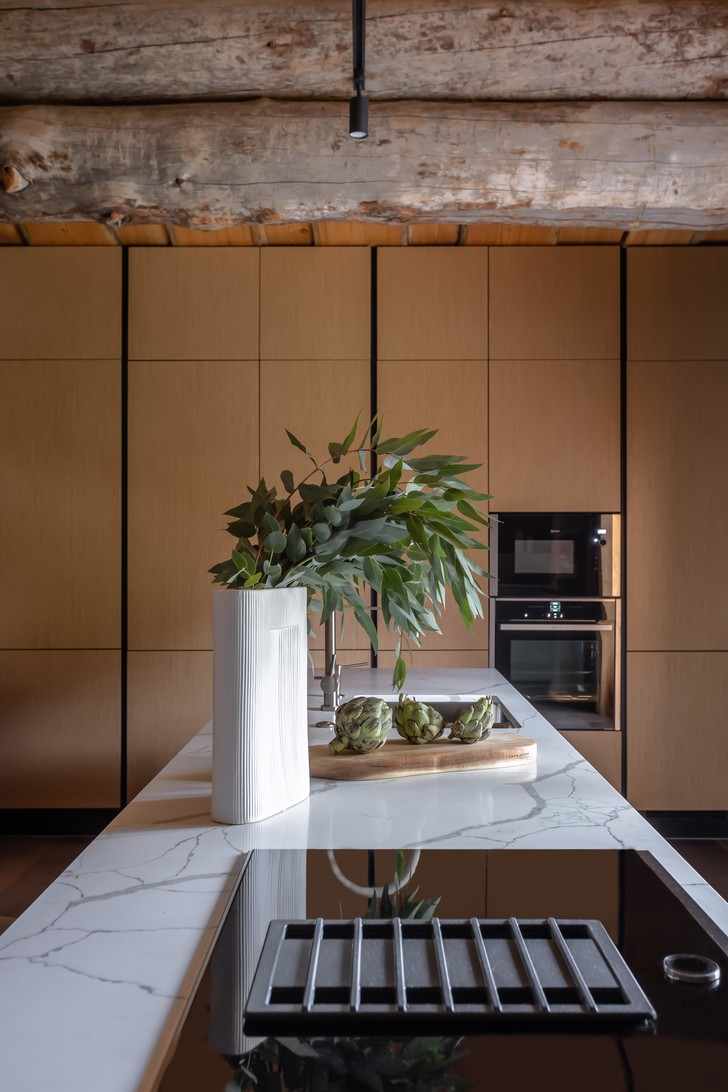 Фото №10 - Деревянная баня с высокотехнологичным дизайном в Подмосковье