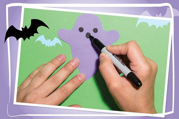 гирлянда из привидений на хэллоуин как сделать