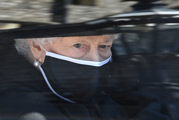 Похороны принца Филиппа: Королева Елизавета II