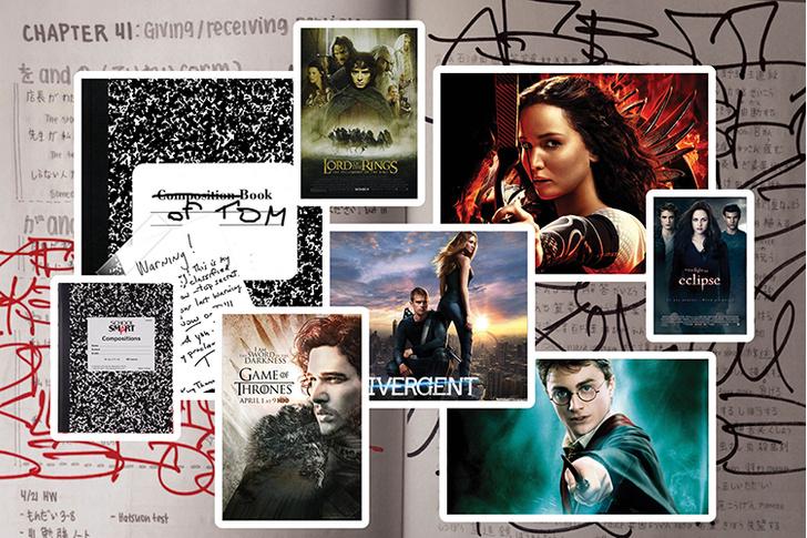 «Игра престолов», «Властелин колец», «Дивергент», «Голодные игры», «Гарри Поттер», «Сумерки»