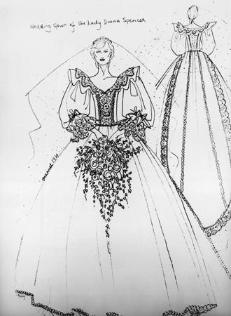 Фото №5 - Секретное свадебное платье принцессы Дианы