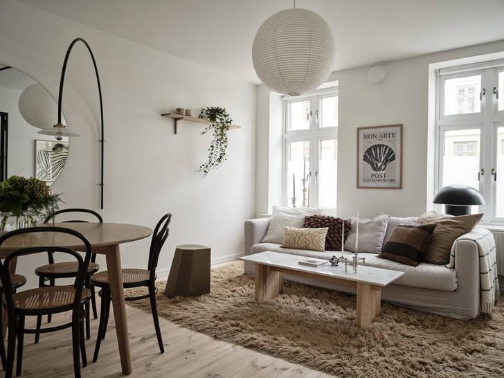 Фото №1 - Маленькая, светлая квартира в Гетеборге