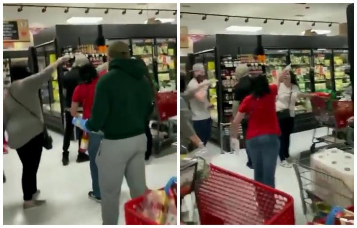 Фото №1 - В Нью-Йорке разъяренные покупатели выгнали из магазина женщину без маски (видео)